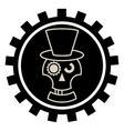 Skull in Hat cylindre vector image vector image