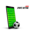 Sport betting online mobile phone with soccer
