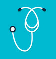 stethoscope flat icon vector image vector image
