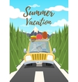 Summer vacation poster vector image vector image