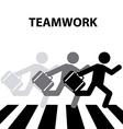 teamwork crosswalk vector image vector image