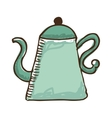 teapot kitchen isolated icon vector image vector image