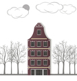 The original house on a white paper background vector image vector image