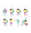 traditional and gay and lesbian couples vector image vector image