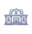 two-story residential house with porch and columns vector image