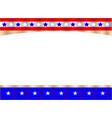 united states flag symbol frame banner vector image vector image
