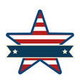united states of america with star emblem frame vector image