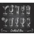 Vintage cocktail bar menu vector image vector image