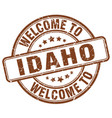 welcome to idaho brown round vintage stamp vector image vector image