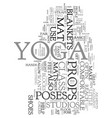 yoga props text word cloud concept vector image vector image