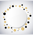 Background with black and gold glittering circles vector image