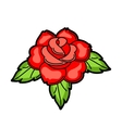 Rose retro tattoo symbol Cartoon old school vector image