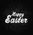 easter greeting card on black background vector image