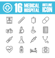 262hospital outline icon vector image vector image
