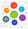 7 circular icons vector image vector image