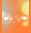 abstract bokeh light orange background vector image