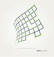 Abstract image of the curve contours vector image vector image