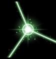 abstract laser beams green color vector image vector image