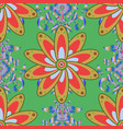 abstract pattern hand-drawn colored mandala on a vector image vector image