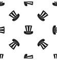 american hat pattern seamless black vector image