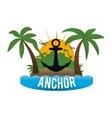 Anchor design vector image vector image