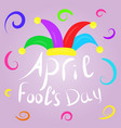 april fools day greeting colorful typography with vector image vector image