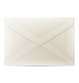 Blank envelope isolated on white background vector image vector image
