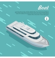 Boat Sailing in Sea Cruise Liner Passenger Ship vector image vector image