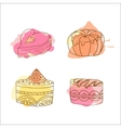 cake Set of hand drawn cakes vector image vector image