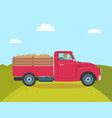 car with trailer transporting vector image