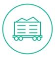 Cargo wagon line icon vector image vector image