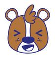 colorful cheerful bear head wild animal vector image vector image