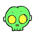 comic cartoon halloween skull mask vector image vector image