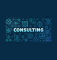 consulting outline blue vector image