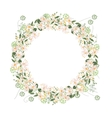 Detailed contour wreath with herbs daisy and wild vector image vector image