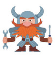 dwarf repairer vector image vector image