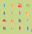 family simply icons vector image vector image