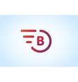 Fast line letter b logo monogram vector image vector image