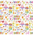 happy birthday party celebration entertainment vector image vector image