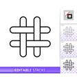 hashtag social media hash tag line icon vector image vector image