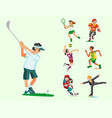 health sport and wellness flat people characters vector image vector image