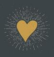 heart symbol hand drawn sketch doodle vintage vector image vector image