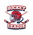 hockey team logo design template sport club badge vector image