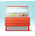 ice cream fridge vector image vector image
