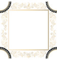 lacy frame with a bird vector image vector image