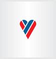 letter y heart love logo icon vector image vector image