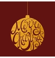 Lettering Merry Christmas in gold ball vector image vector image