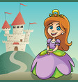 little princess background 2 vector image