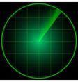 Monitor of radar vector image