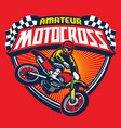 motocross event badge vector image vector image